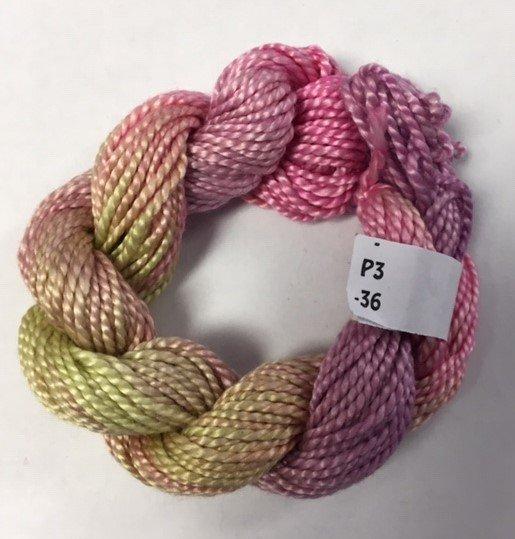 Pastel Pink/Green/Mauve #3 Perle Cotton