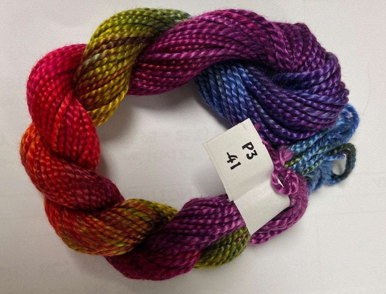 Purple/Green/Orange/Blue #3 Perle Cotton