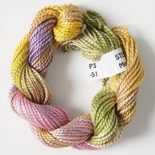 Purple, Yellow, Green #3 Perle Cotton