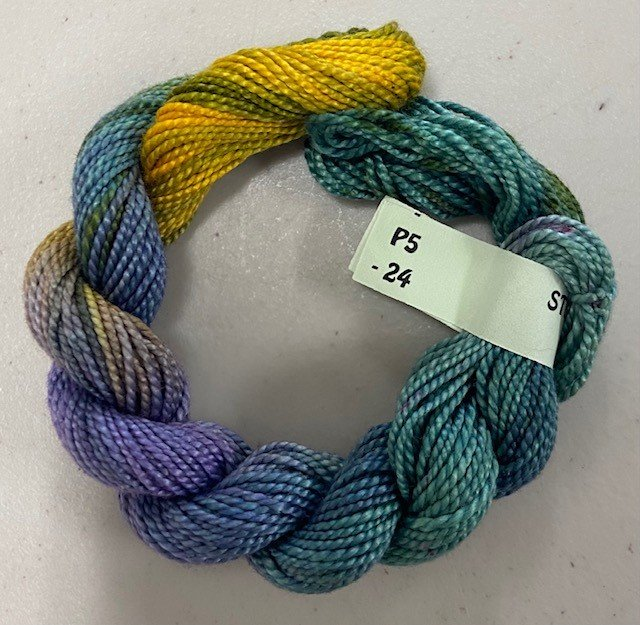 Teal, Purple, Gold #5 Perle Cotton