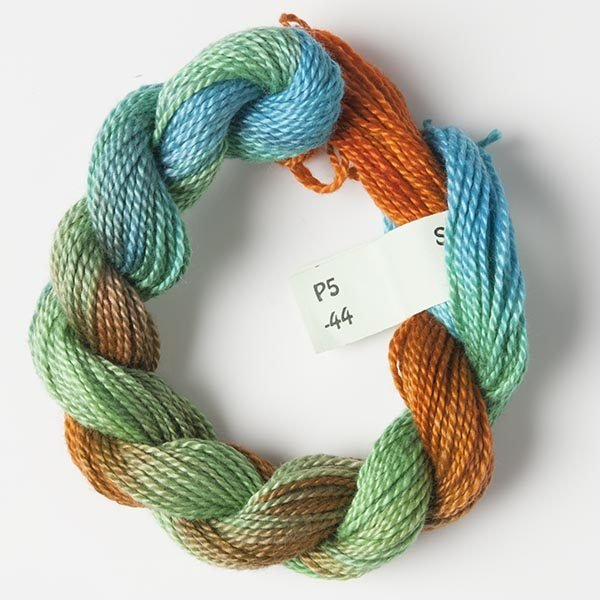 Green, Gold, Turquoise #5 Perle Cotton