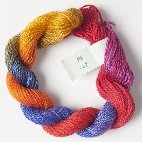 Pink, Orange, Purple #5 Perle Cotton