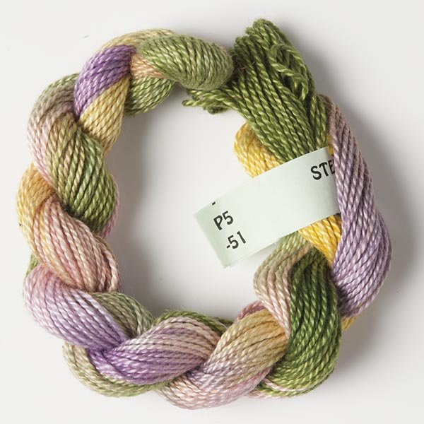 Pink/Green/Yellow #5 Perle Cotton