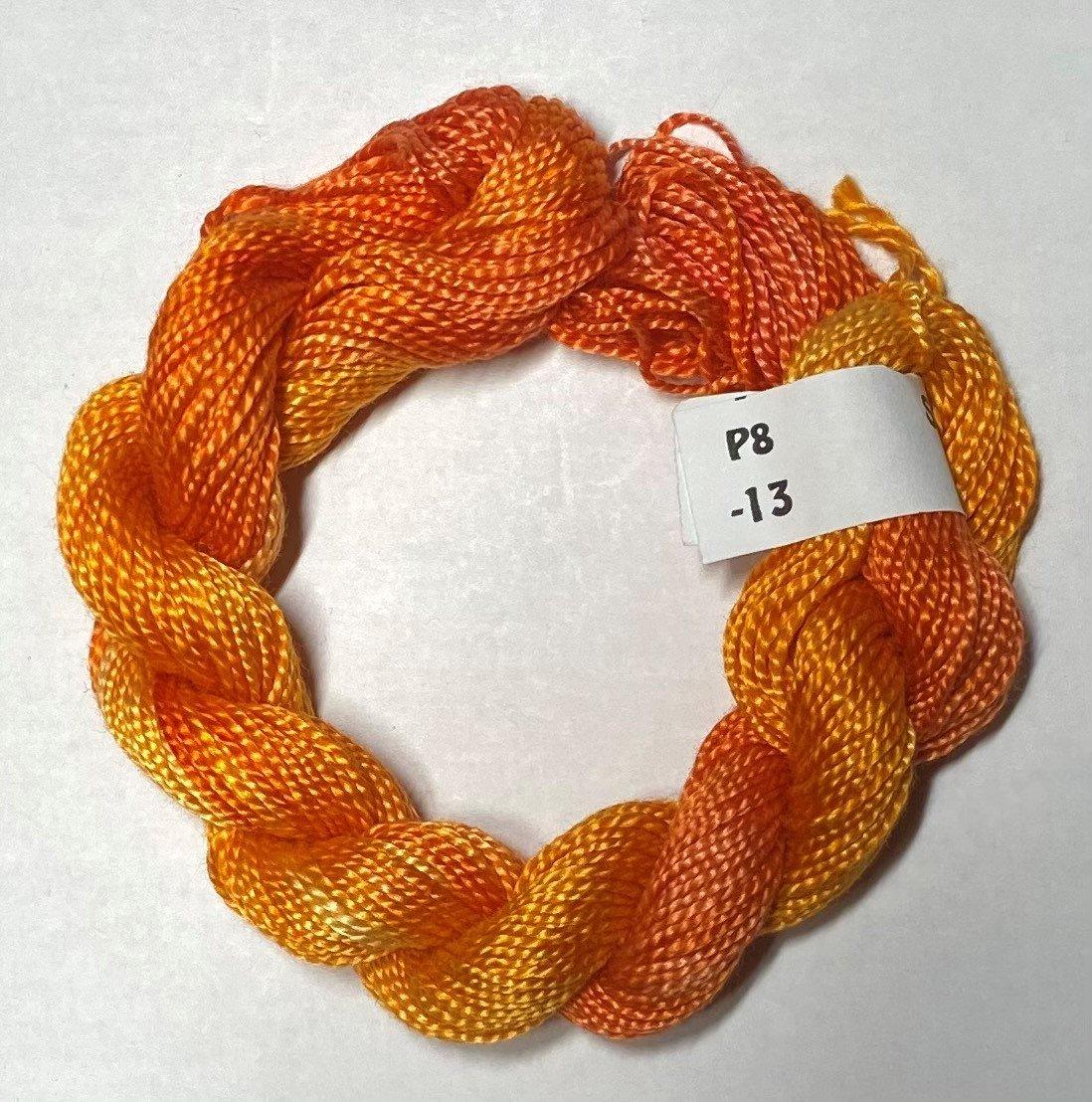 #8 Perle Cotton Oranges