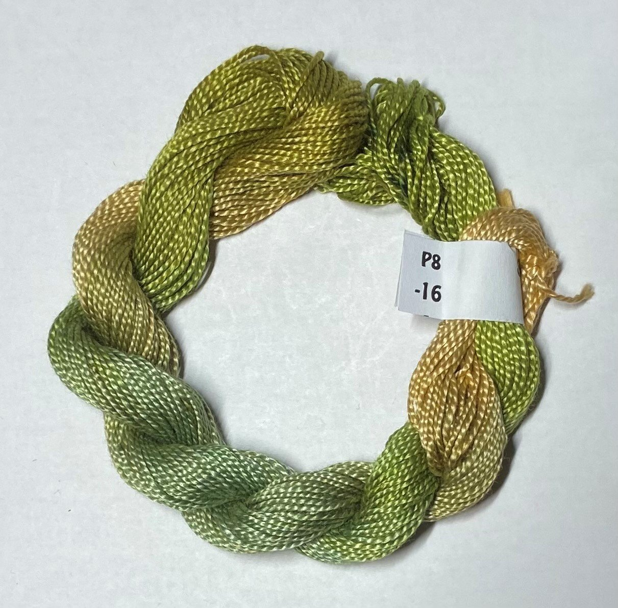 #8 Perle Cotton Olive Greens