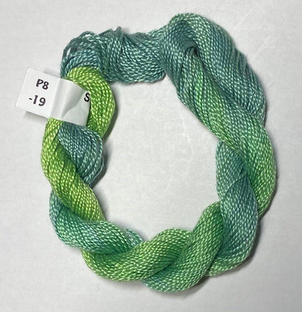 #8 Perle Cotton Green/Blue