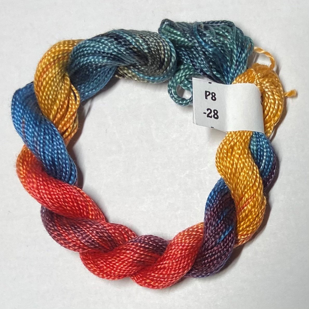 #8 Perle Cotton Rust/Teal/Gold