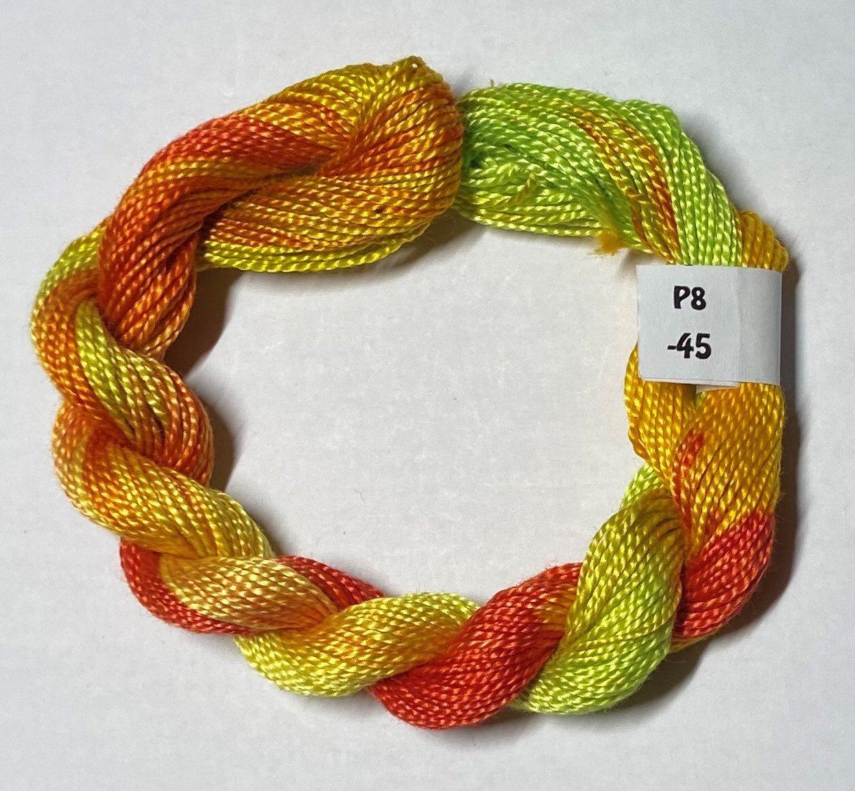#8 Perle Cotton Lime Green, Orange, Yellow