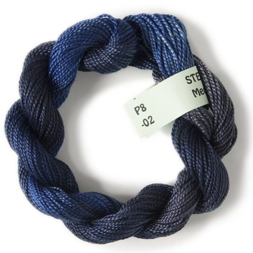 Dark Blues #8 Perle Cotton