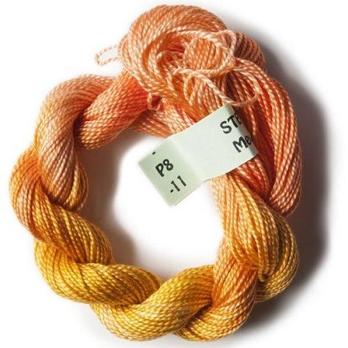 Orange/Peach #8 Perle Cotton