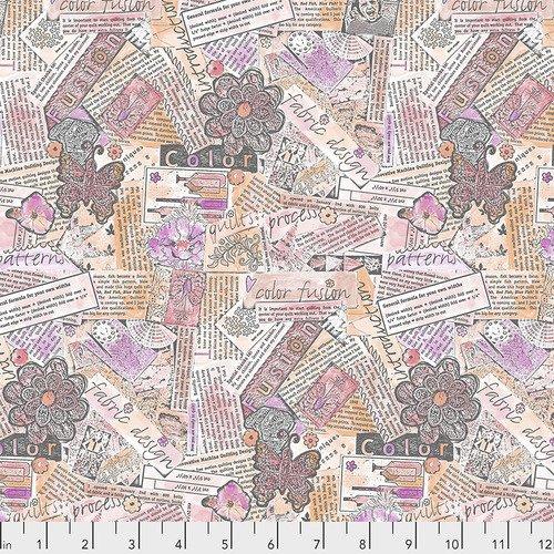 Laura Heine Collage Background Pink