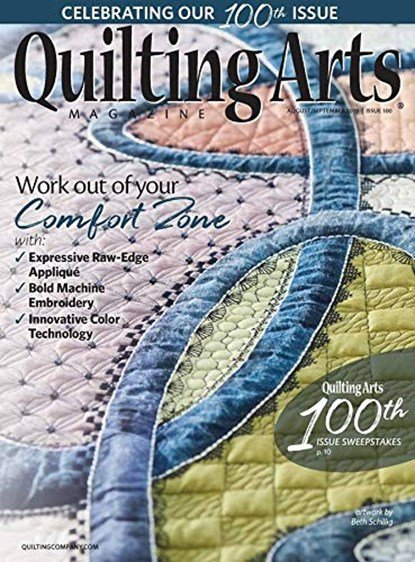 Quilting Arts August/September Issue 100