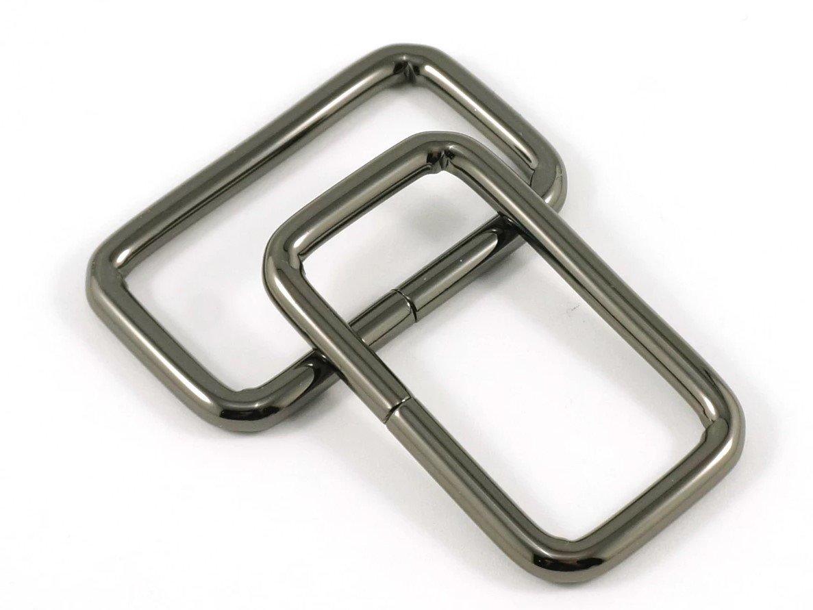 Rectangle Rings 1.5 Gunmetal