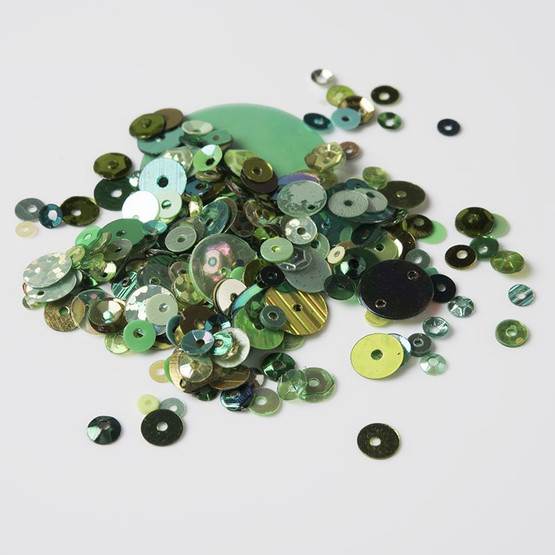 Green Assorted Sizes & Shapes
