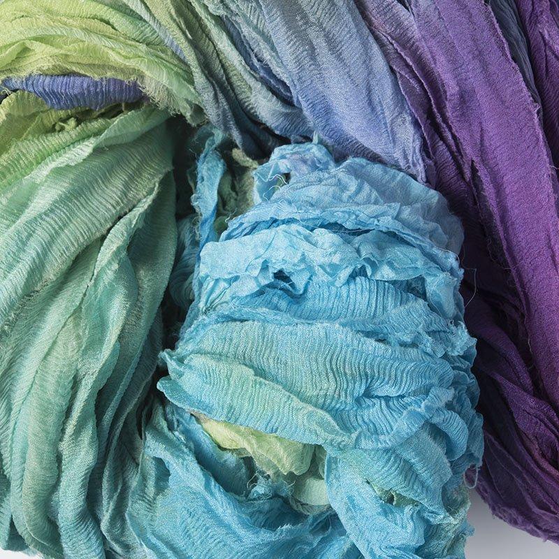 Silk Chiffon Ribbon Hand Dyed