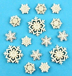Buttons Galore Christmas Collection Snowflakes