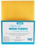 Mesh Fabric By Annie Dandelion Yellow