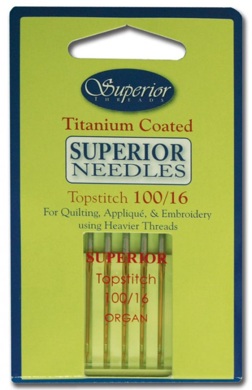 Superior Needles Titanium Coated Topstitch 100/16