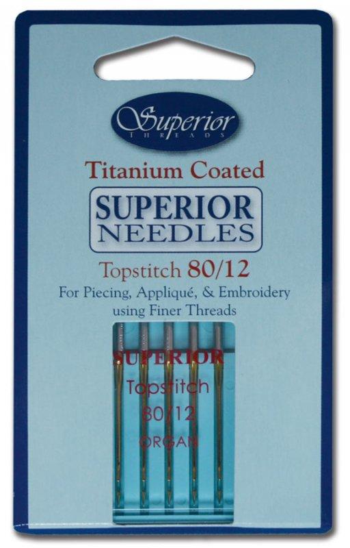 Superior Needles Titanium Coated Topstitch 80/12