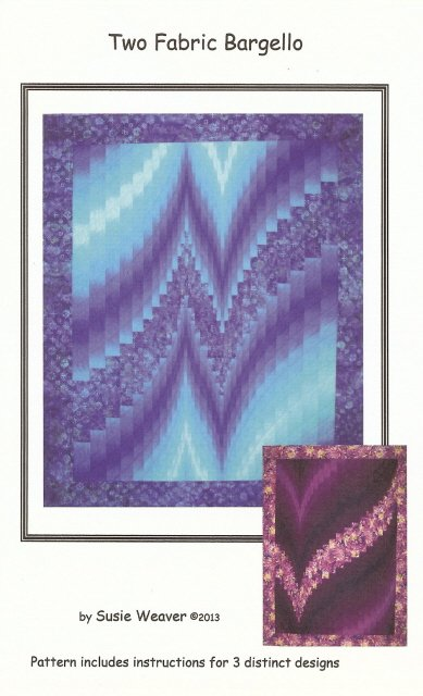 Two Fabric Bargello by Susie Weaver