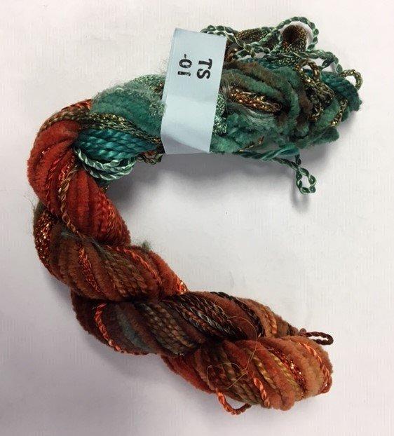 Rust/Seafoam Texture Yarn