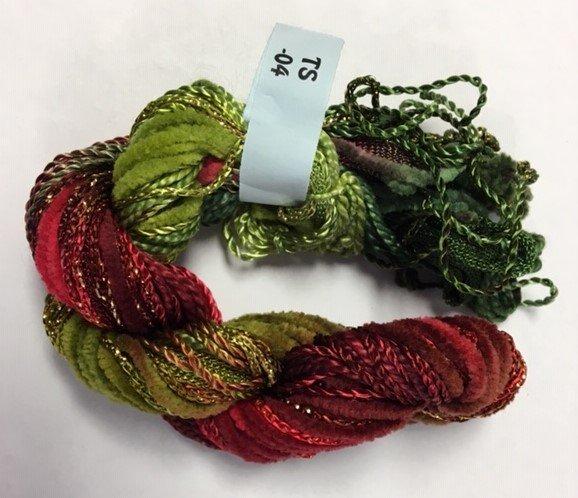Rust & Green Texture Yarn