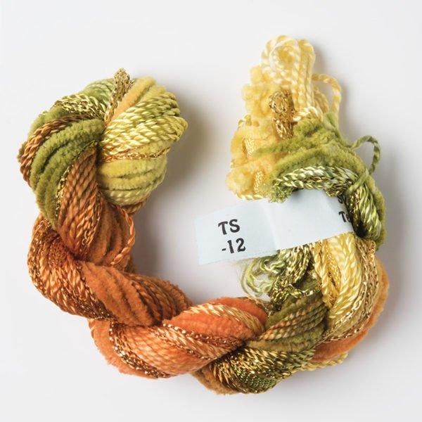 Olive Green, Orange & Yellow Texture Yarn