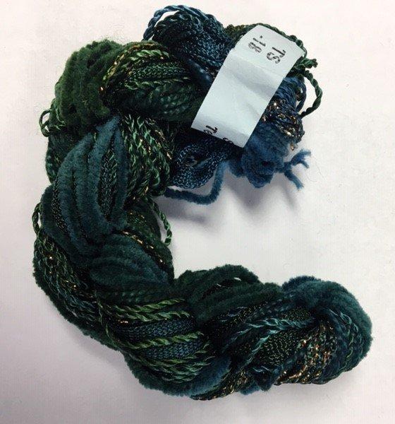 Dark Green/Blue Texture Yarn