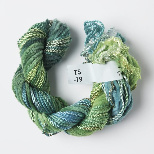 Lime Green & Turquoise Texture Yarn