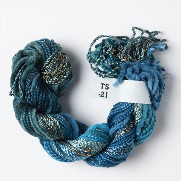 Turquoise/Blue/Seafoam Texture Yarn
