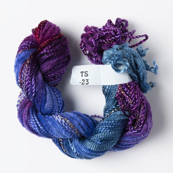 Blue Purple Texture Yarn
