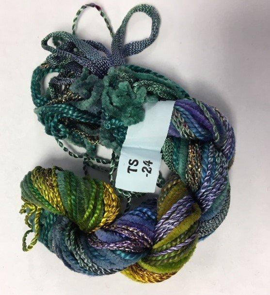 Teal/Green/Pur[le Texture Yarn