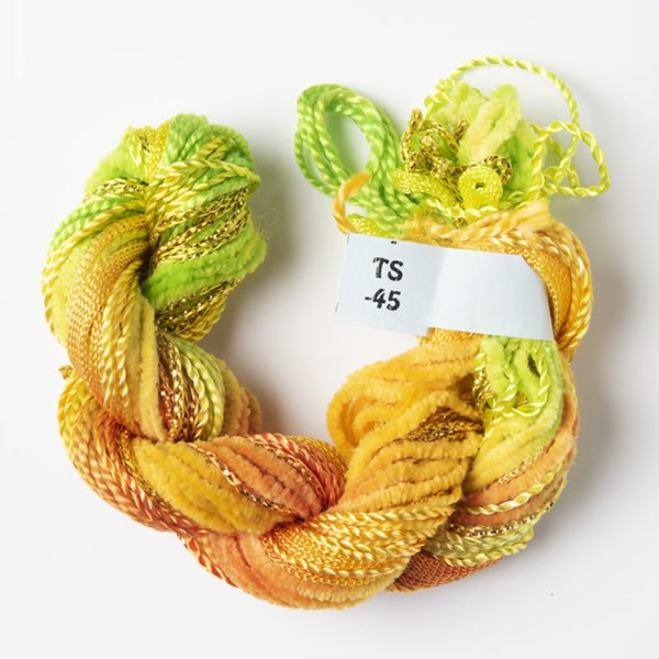 Lime Green, Orange & Yellow Texture Yarn