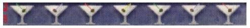 Martini Glasses Belt - Hot Pink