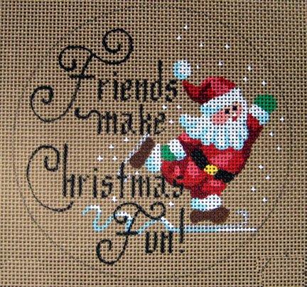 Friends Make Christmas Fun Ornament