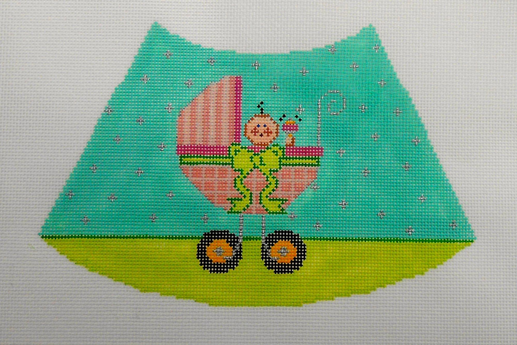 Baby Girl in Carraige Lamp Shade