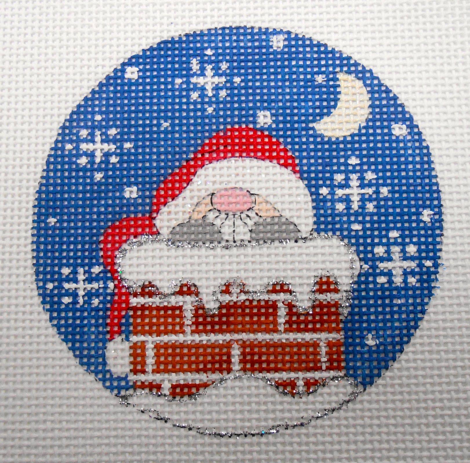 Santa's in Chimney ornament