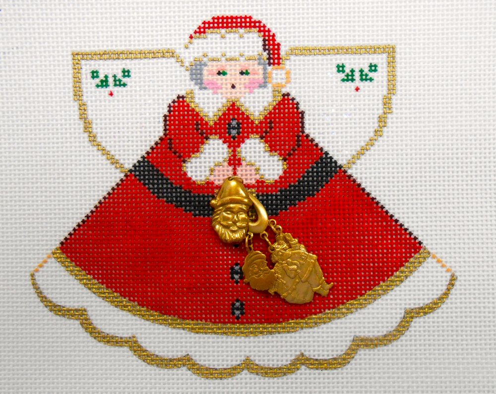 Mrs. Claus Angel with Charms
