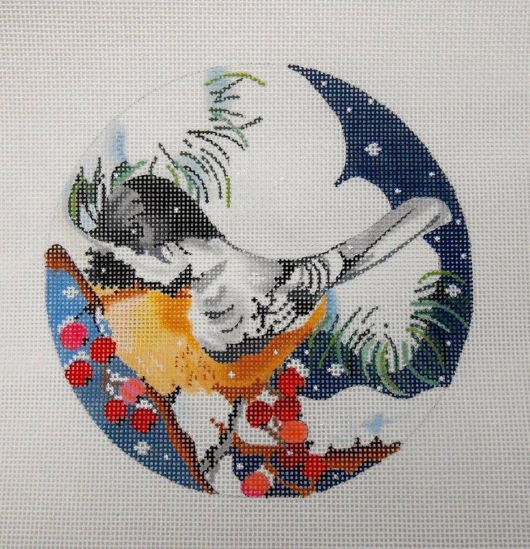 Chickadee with Holly Berries