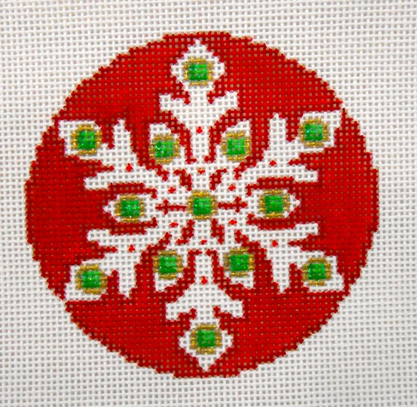 Jeweled Snowflake Ornament