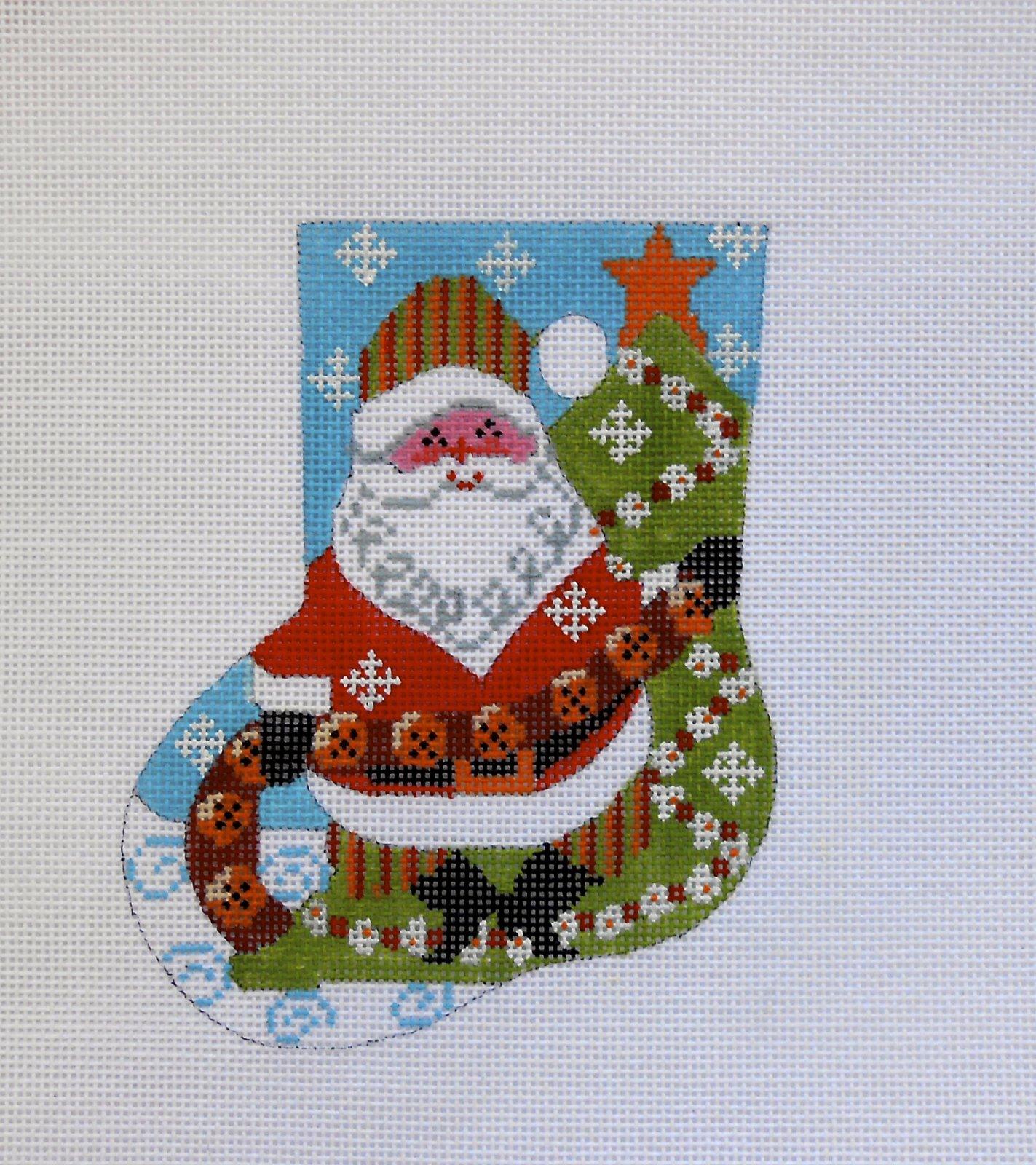 Jingle Bell Santa Mini Sock