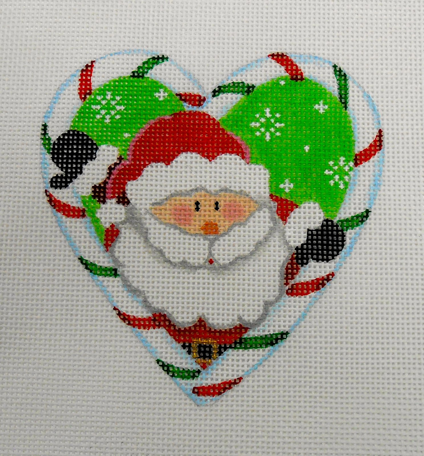 Santa Candy Cane Heart