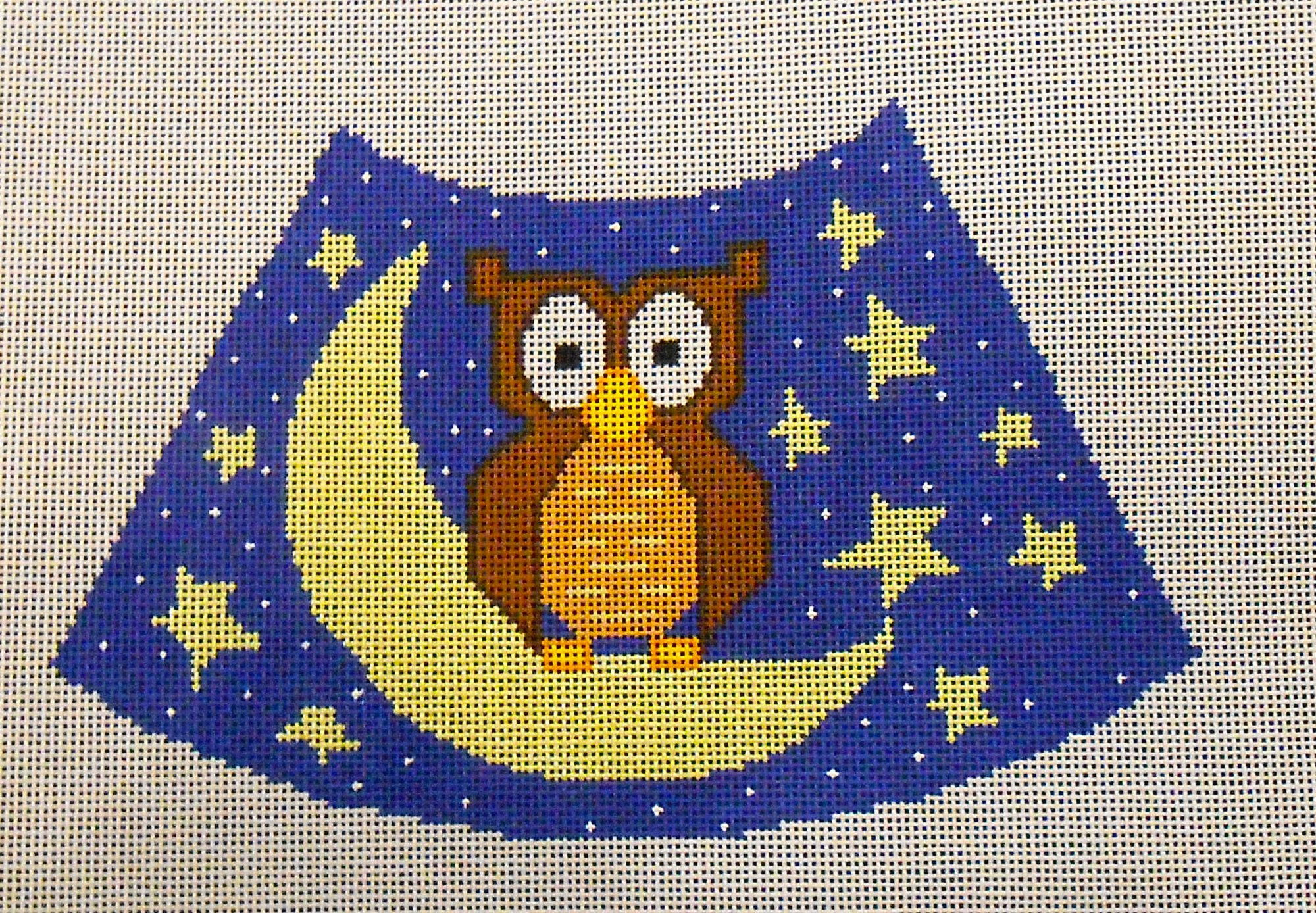 Owl, Moon and Stars Lampshade
