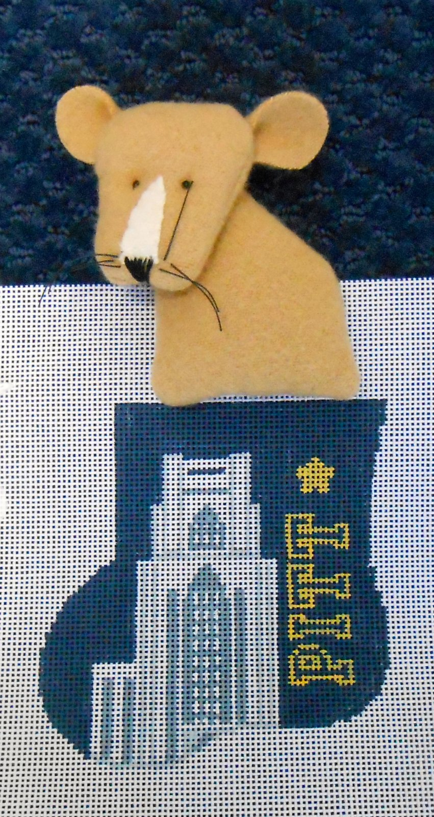 University of Pittsburgh Mini Stocking with Panther