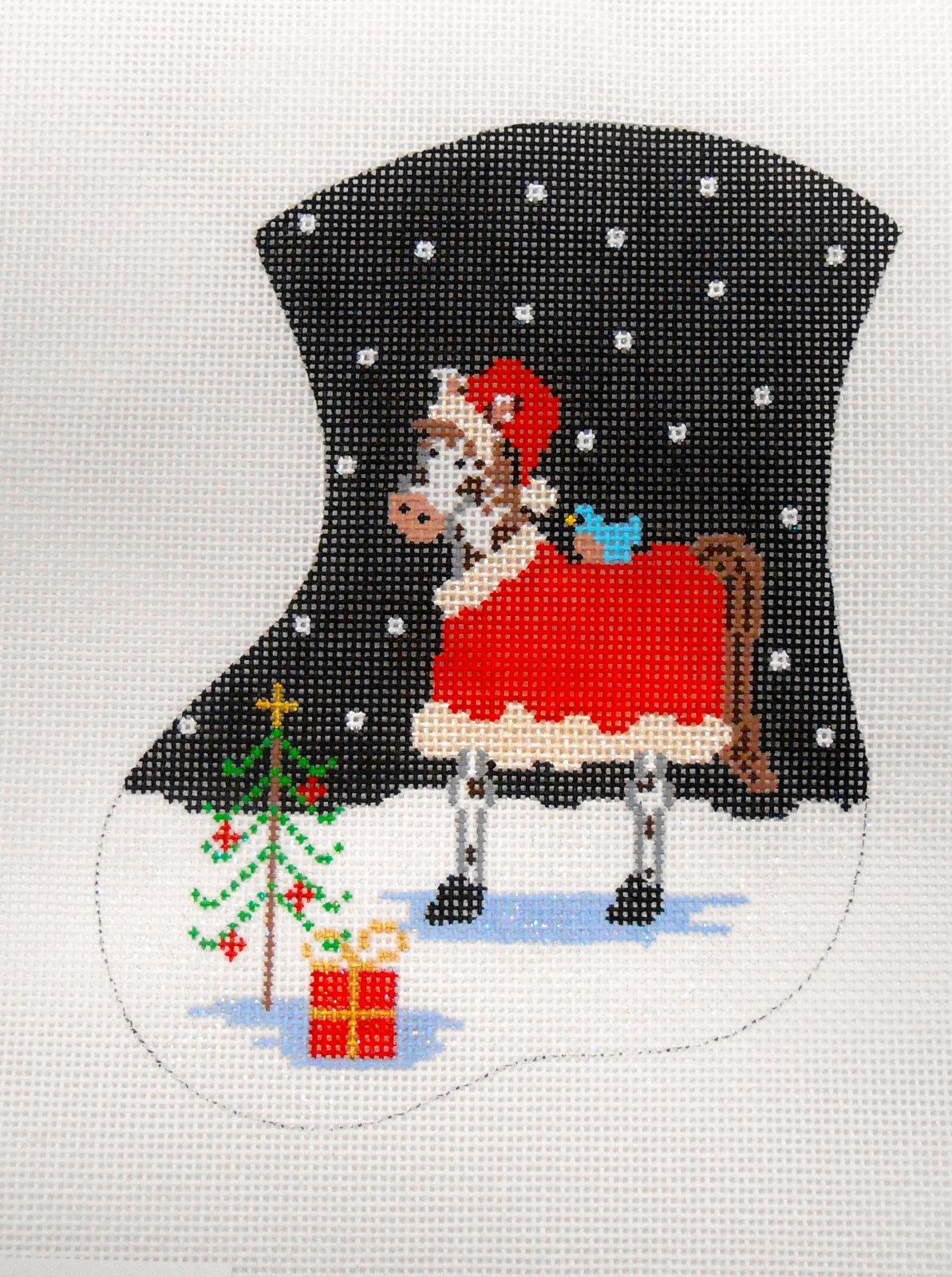 Horsey Christmas mini stocking