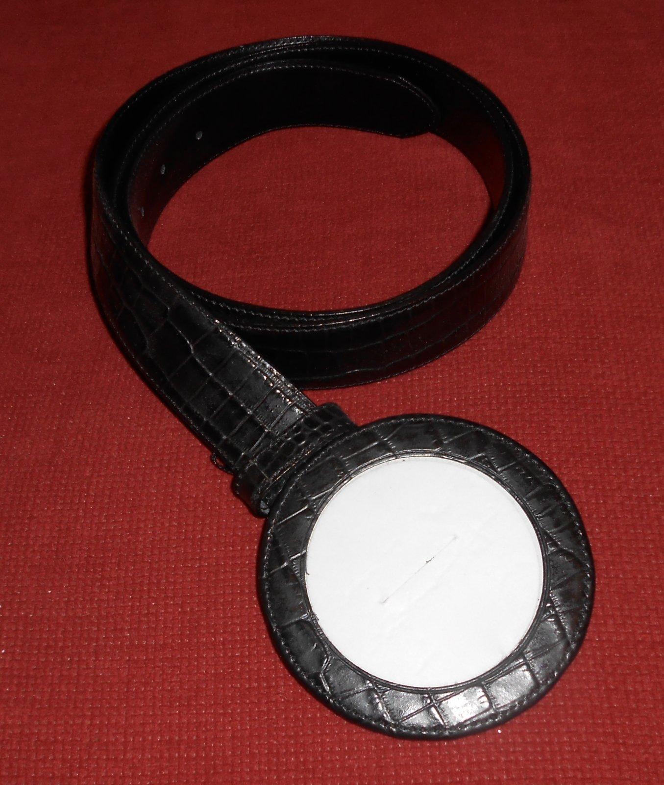 Black Alligator Leather Belt