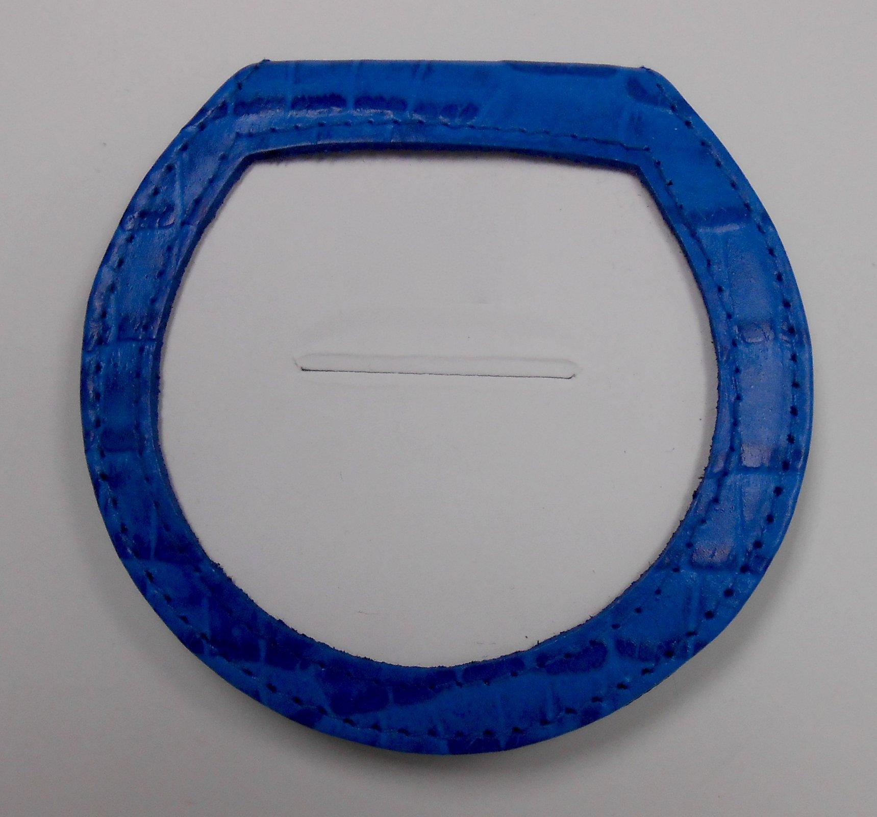 Blue Alligator Purse Mirror