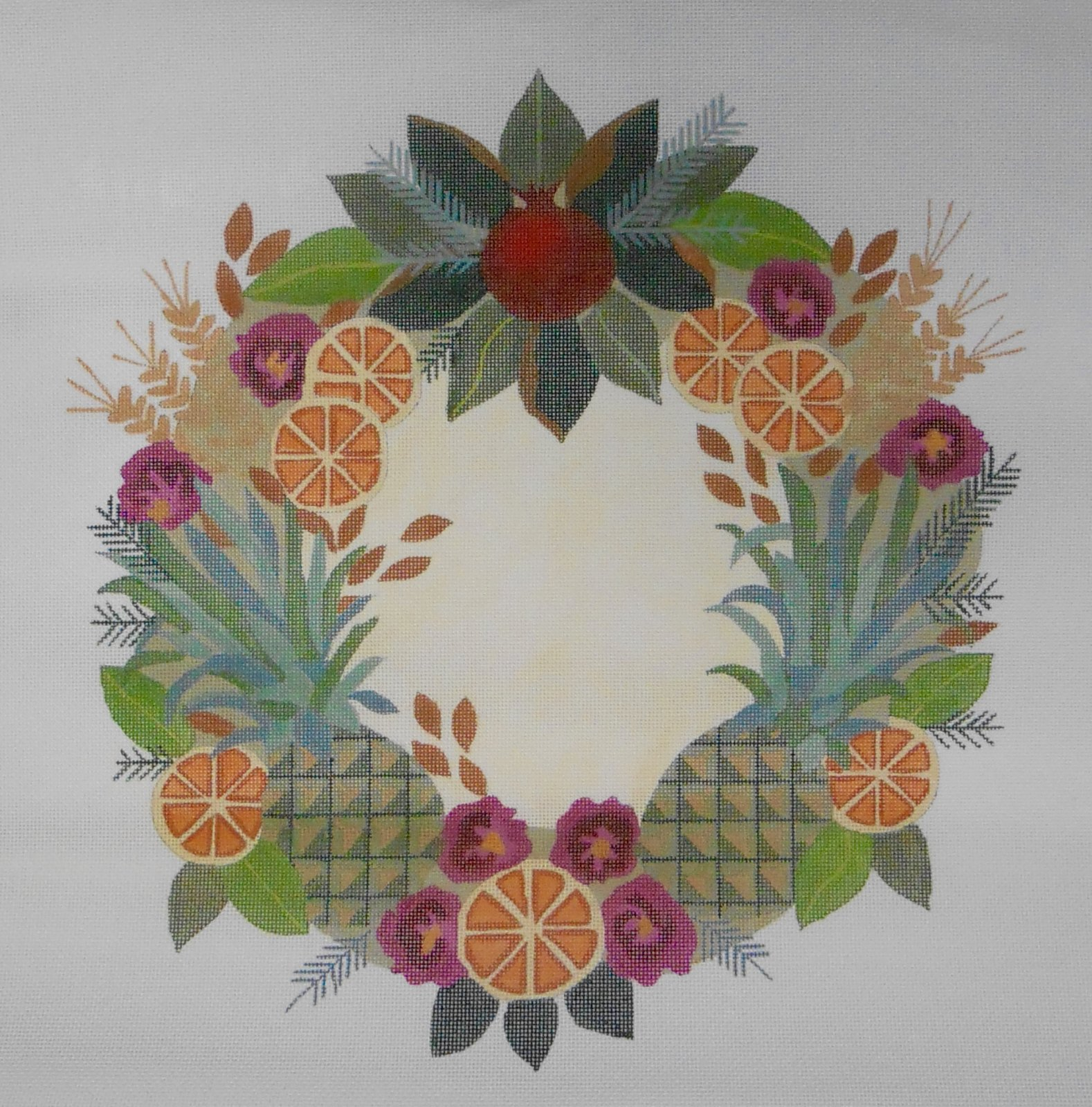Colonial Williamsburg Wreath with Pineapples