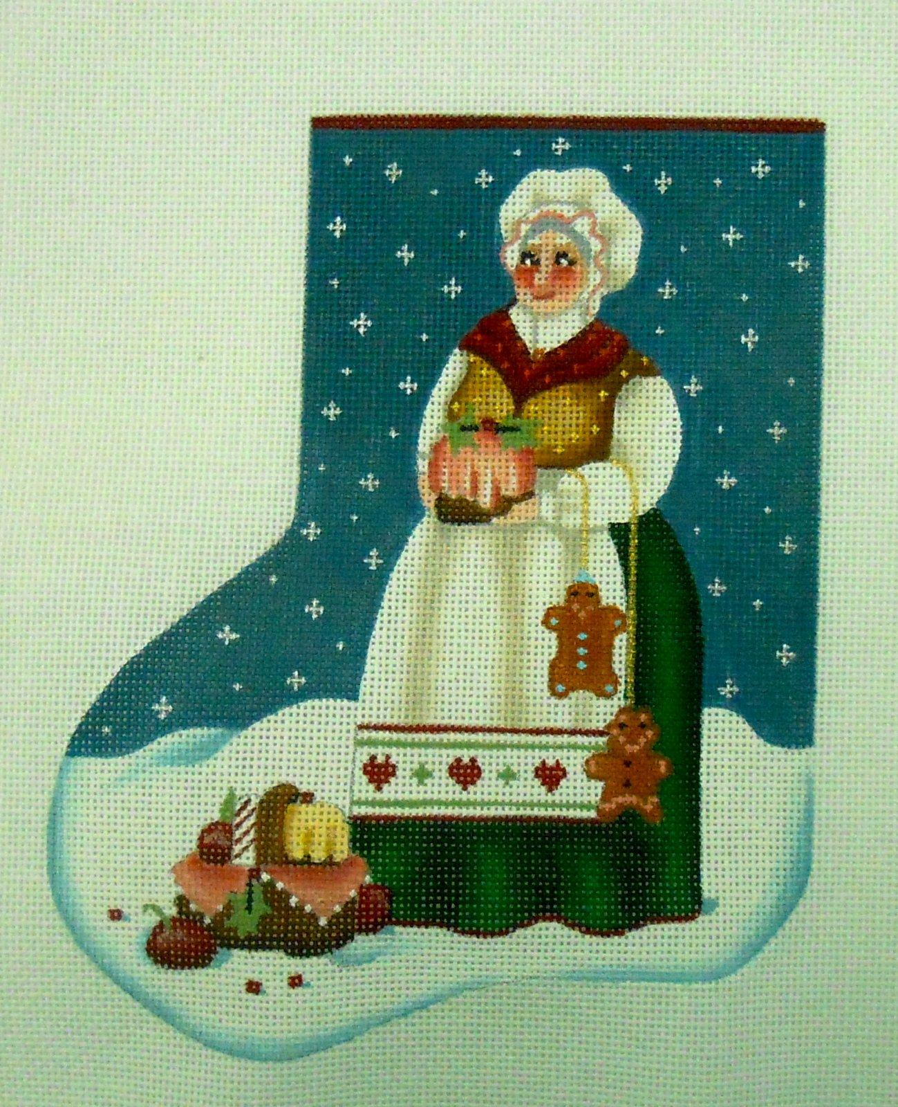 Mrs. Claus minisock