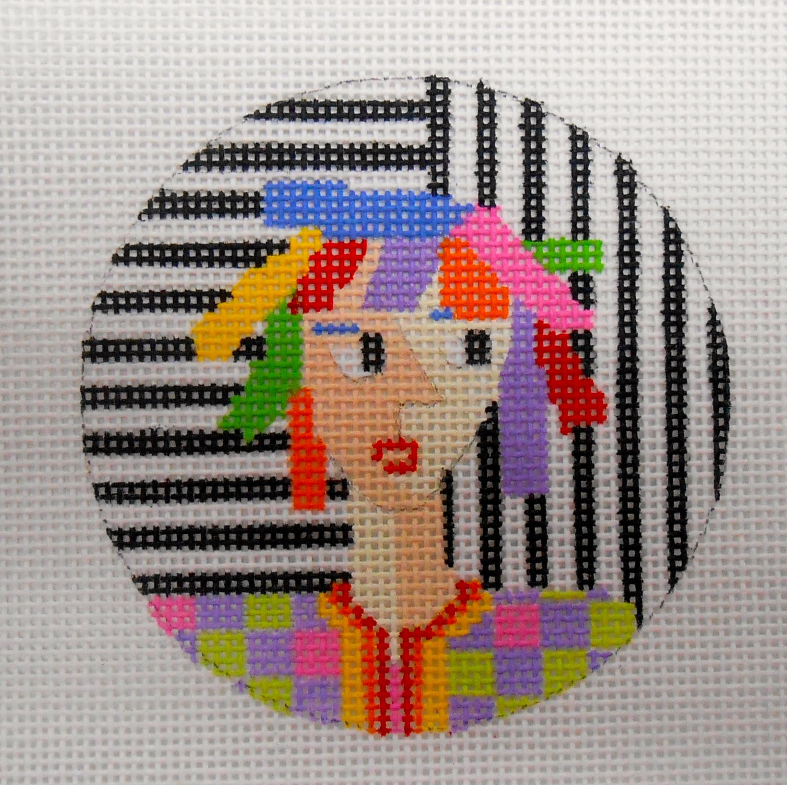 Lady with Colored Hair - Round